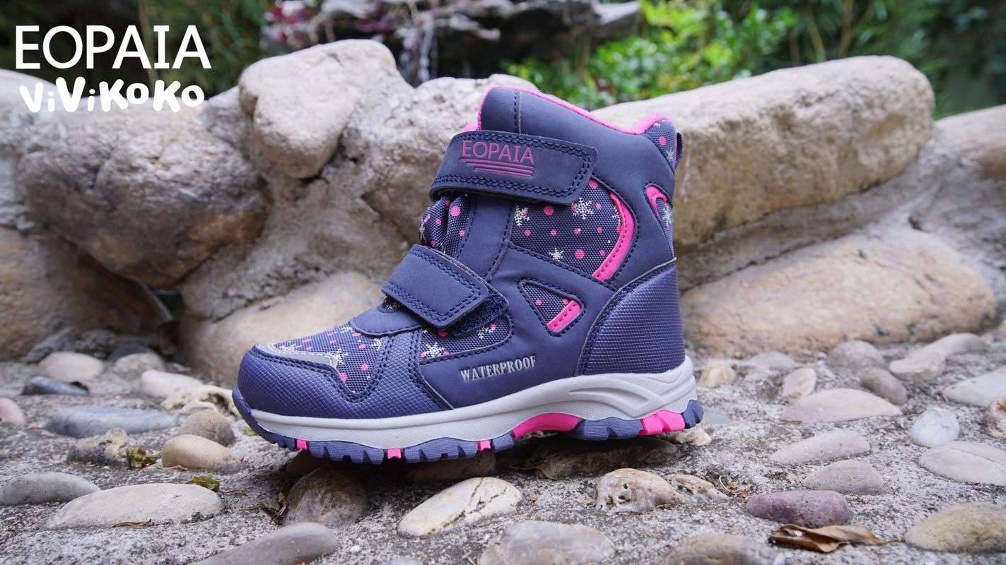 Outdoor girls pink purple waterproof oxford cloth boots