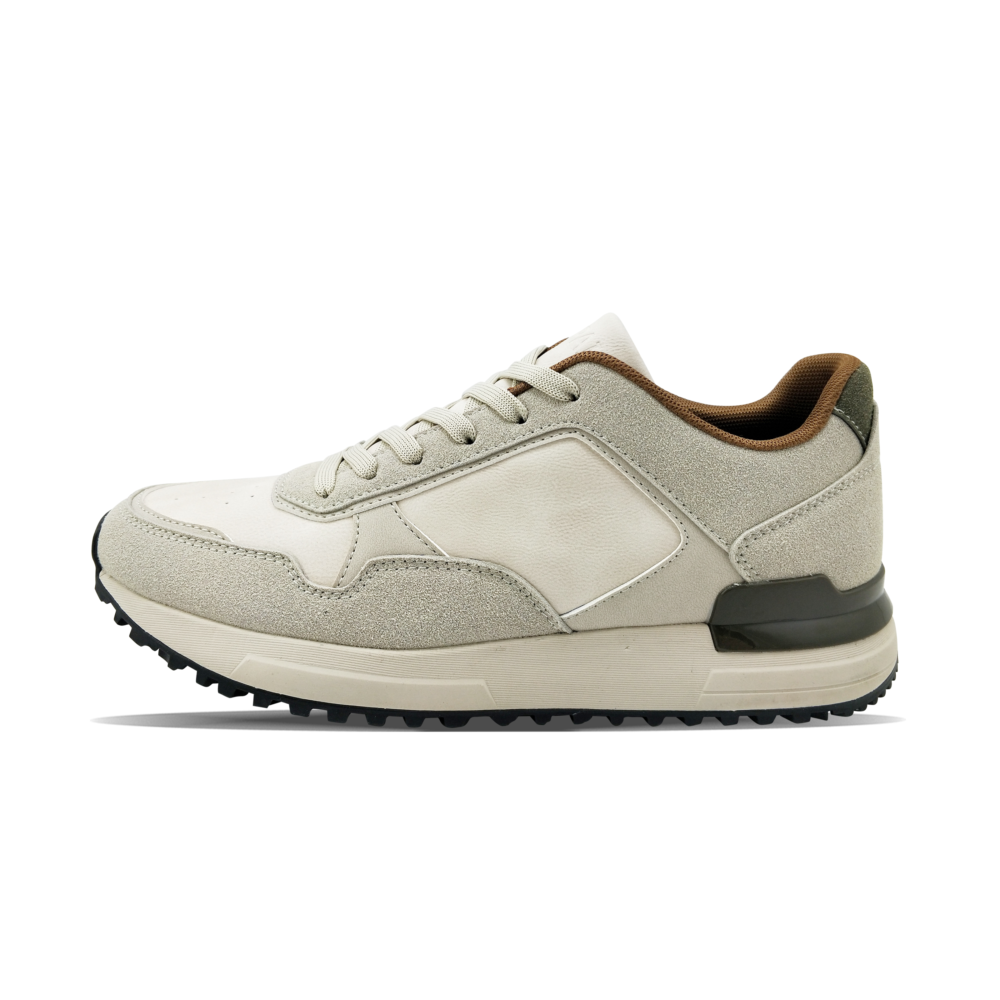 customized beige strong grip daily EVA outsole sneakers