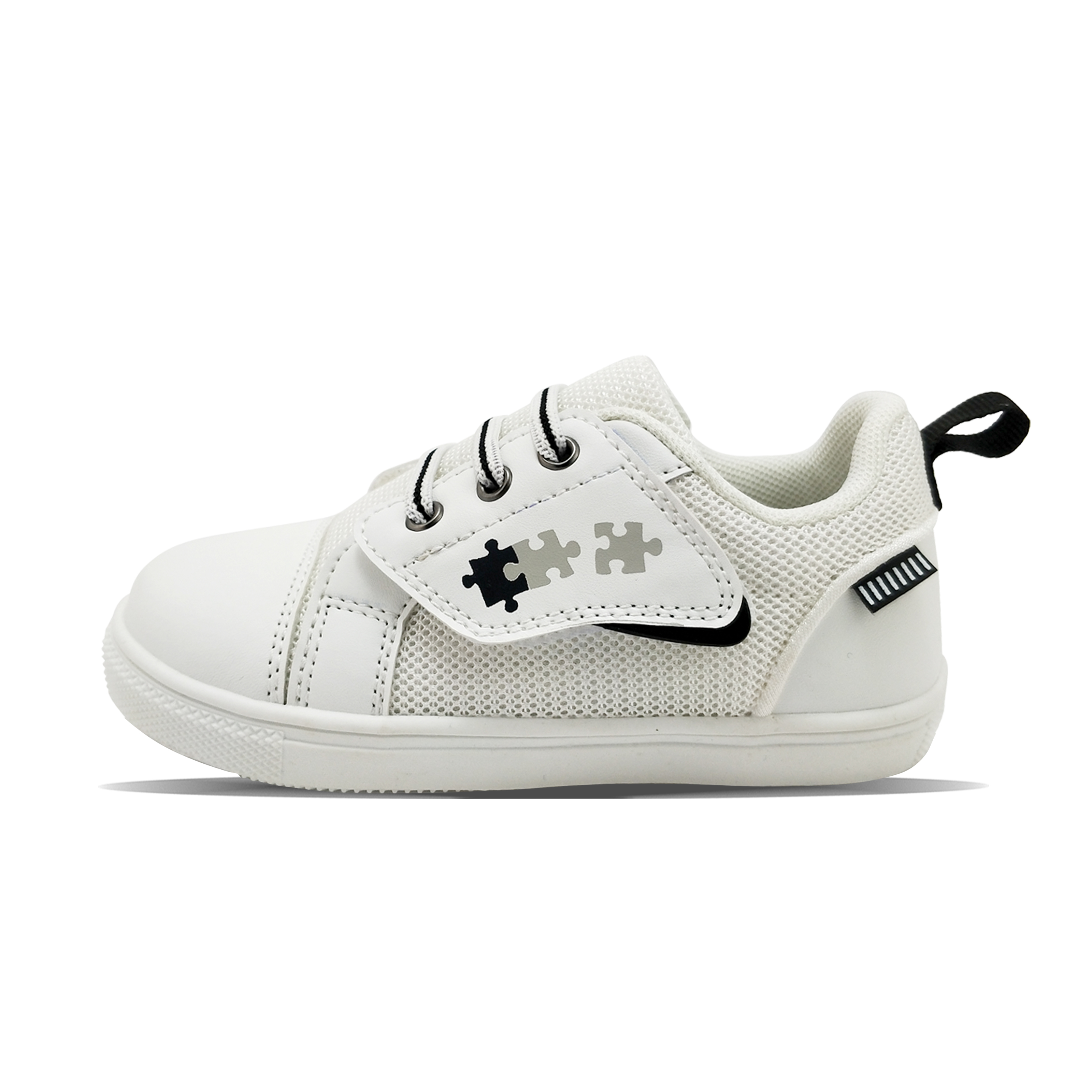 Jigsaw magic tape summer breathable white simple boy's sports shoes