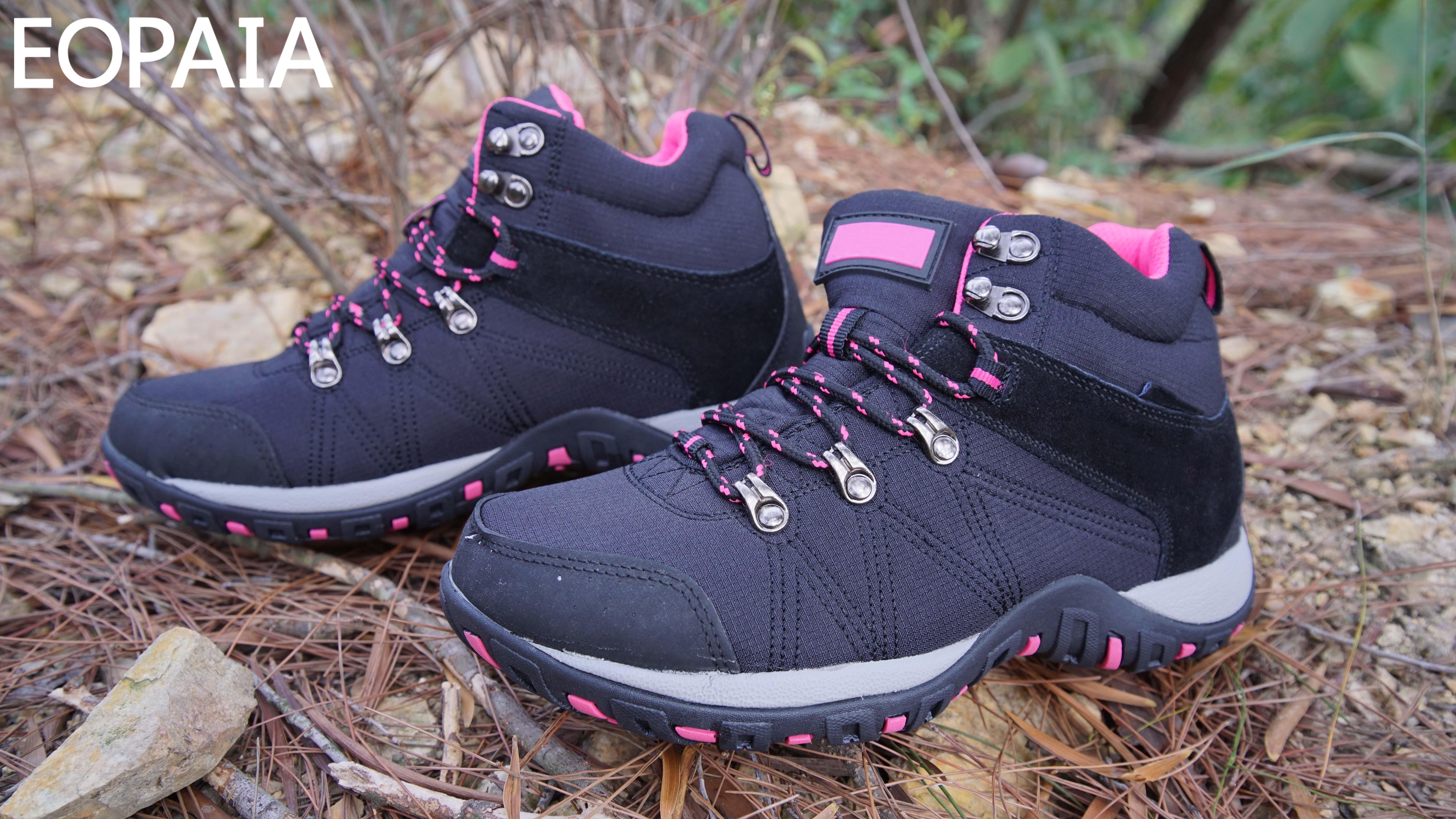 Bottes d'alpinisme pour femmes extérieures à boutons métalliques