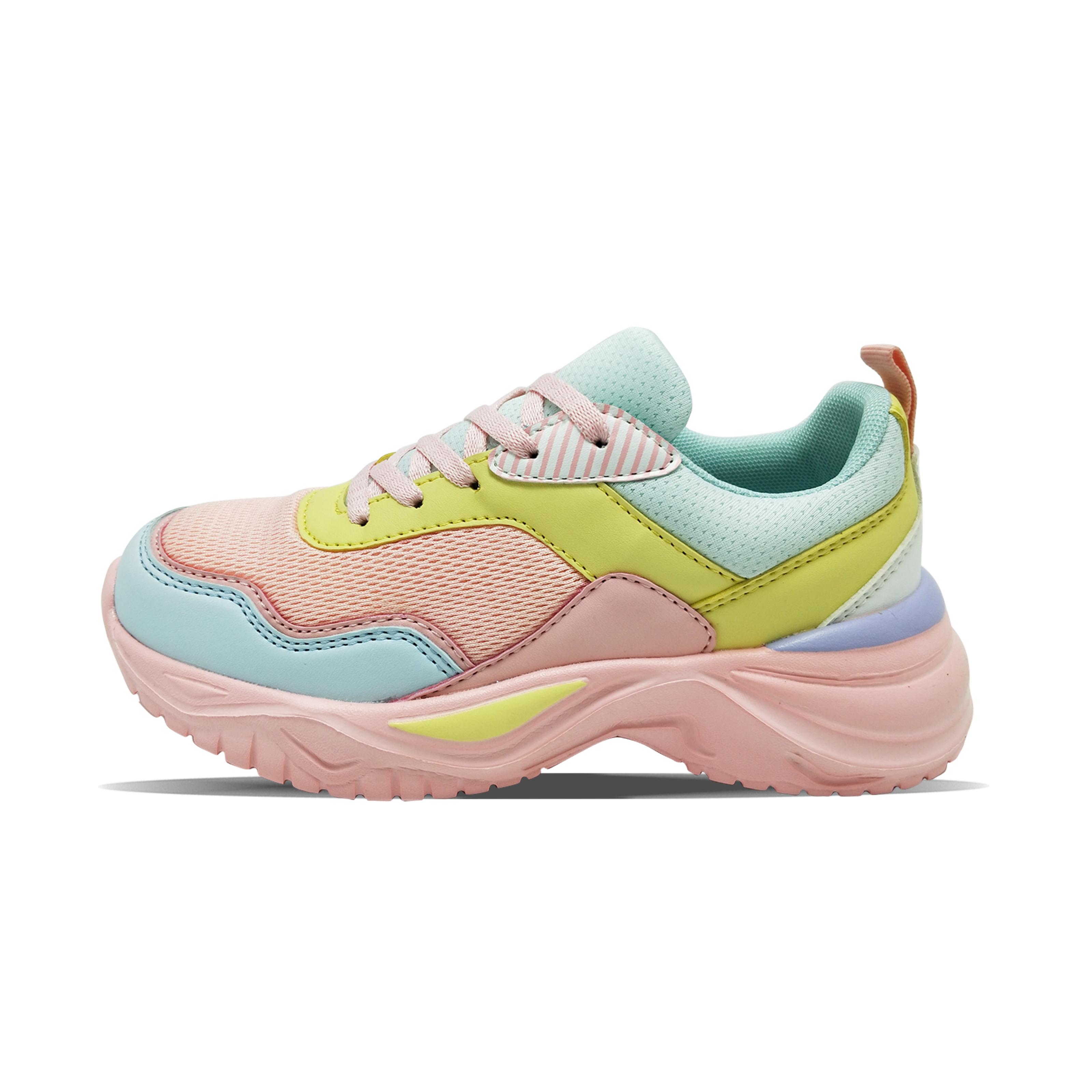 La maggior parte delle ragazze in vendita calda s PU maglia scarpe sportive