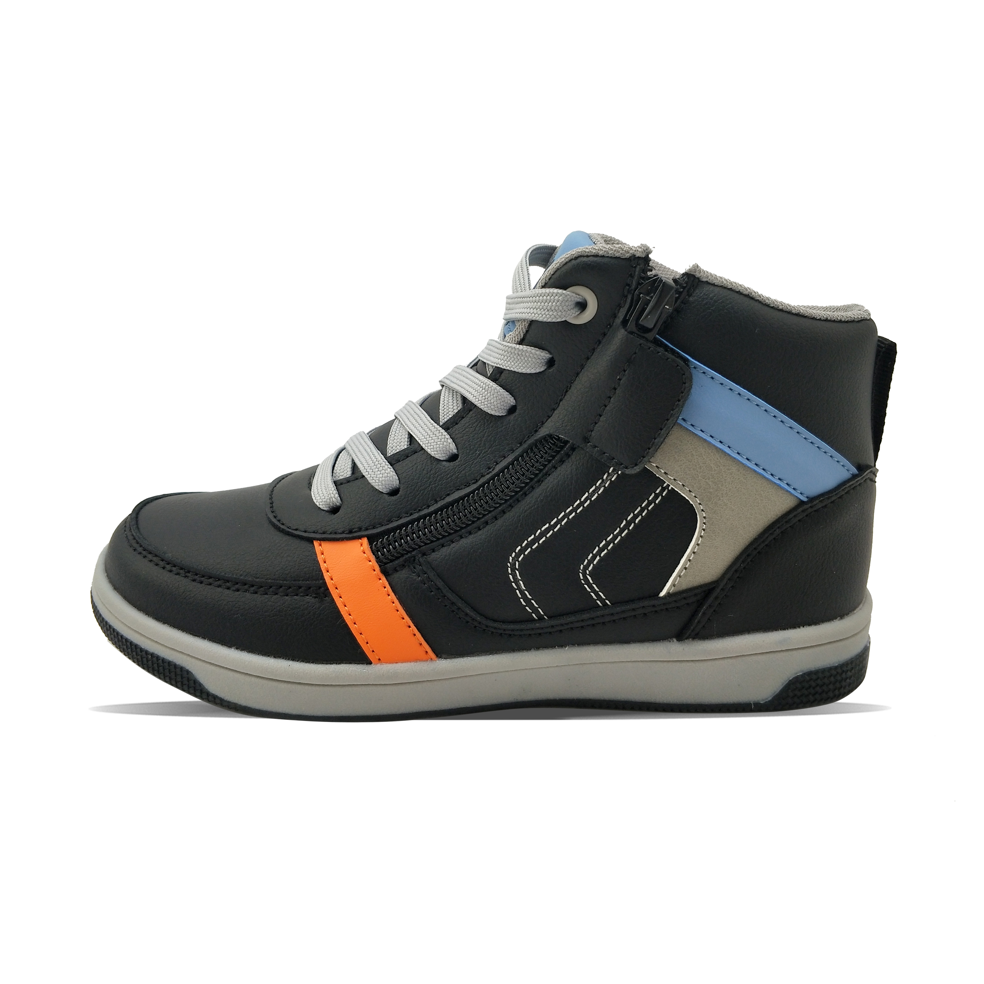 side zipper wool lining fashion warm cold-proof boy's casual shoes