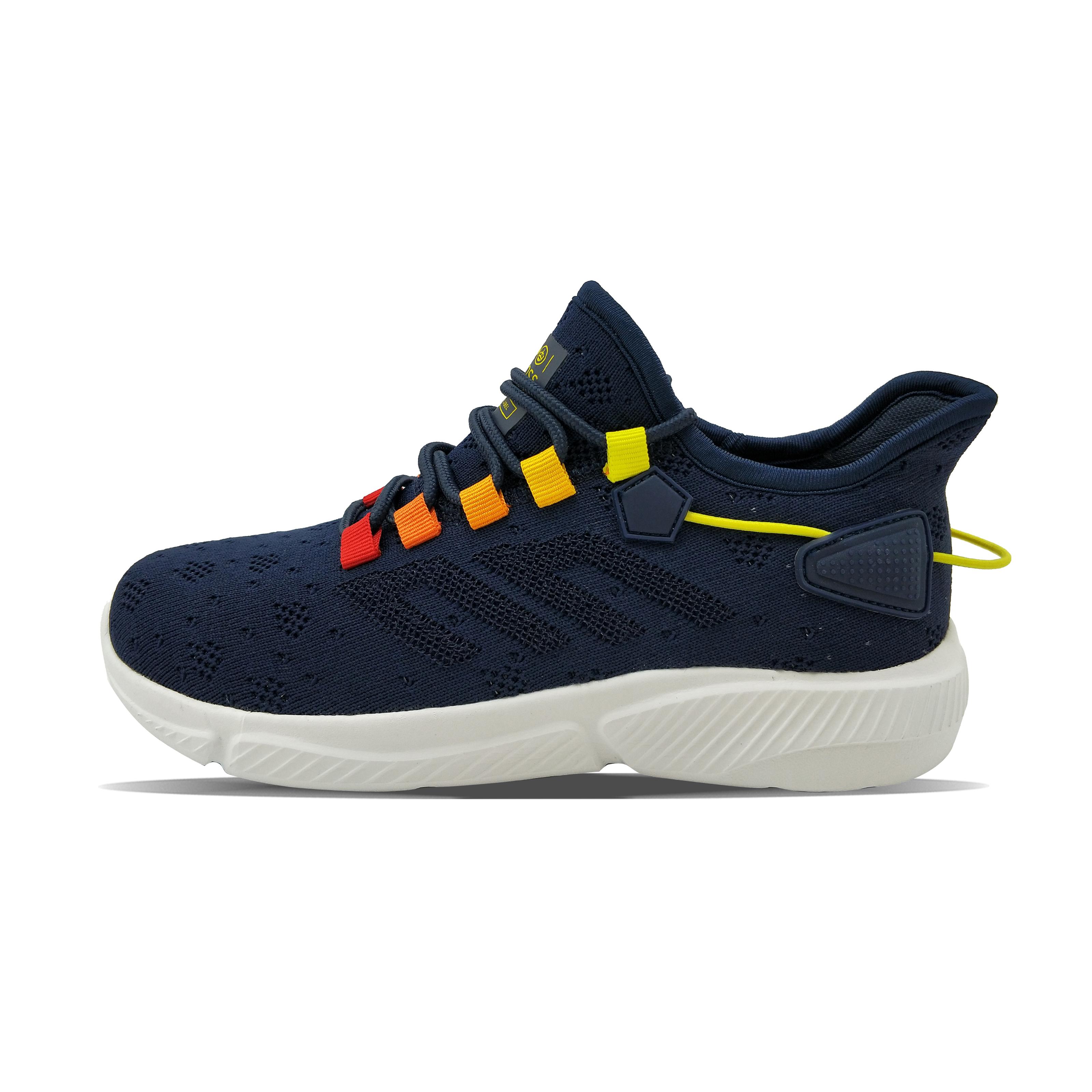 Pentagon PU rubber patch gradient color heel surrounding light boy's sneaker